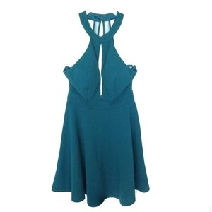 Speechless Green Emerald Fit and Flare Dress Sz 5